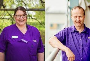 Marie Petterson och Anders Johansson, sjuksköterskor vid Uppsala Kommun